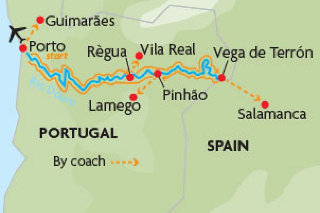 Douro River map