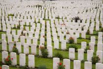 Graves at Tyne Cot War Cemetery