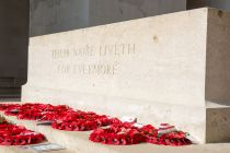 Thiepval memorial wreaths